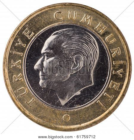 1 Turkish Lira Coin, 2011, Face