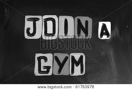 Join A Gym Concept