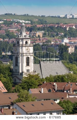Large Church In Stuttgart