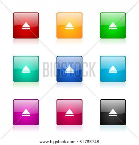 eject web icons set