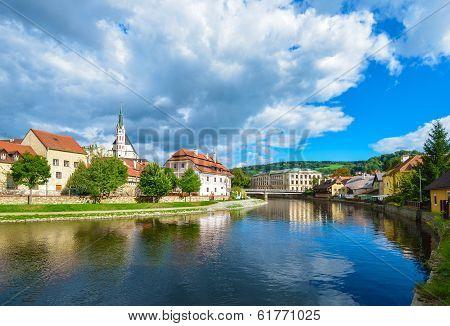 Cesky Krumlov On The Vltava River