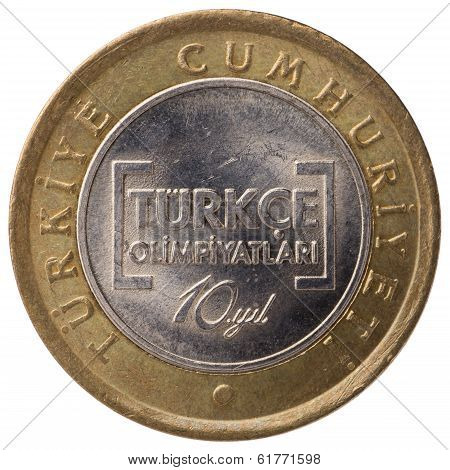 1 Turkish Lira Commemorative Coin, 2012, Face