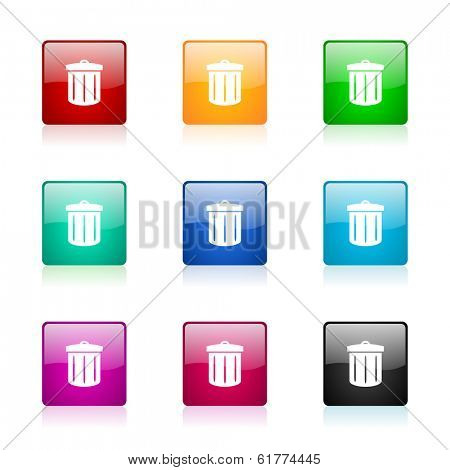 recycle web icons set