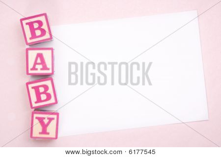 Blank Baby Announcement