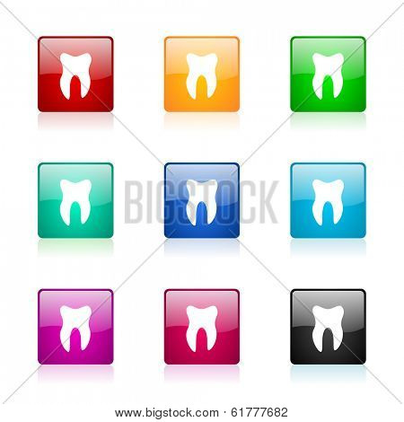 tooth web icons set
