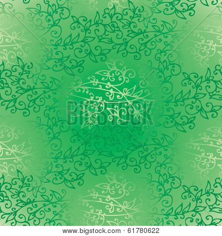 Floral Green Verdure Springtime seamless pattern