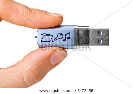 Flash Drive In Hand