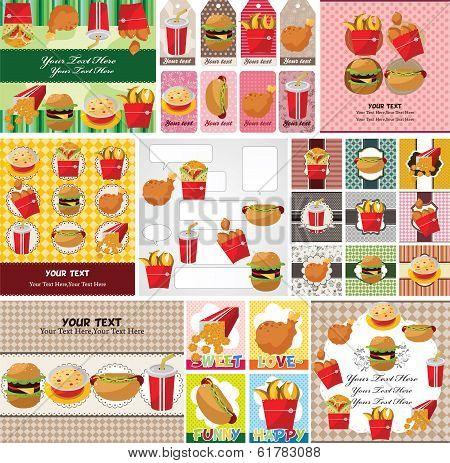 Cartoon Fast Food Card
