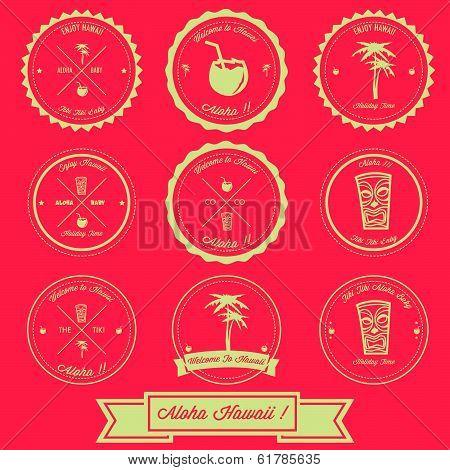 Hawaii Holiday Label Design