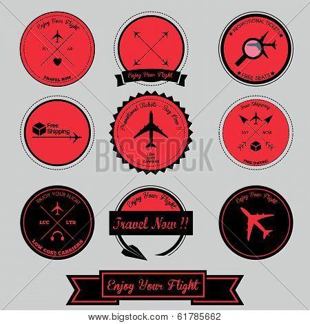 Airplane Vintage Label