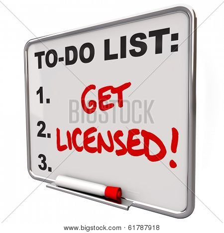 Get Licensed Words To Do List Board Approval Authorization