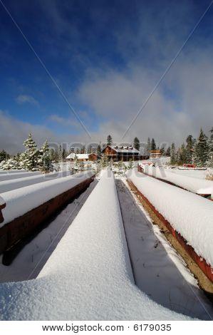 Abandonada estación de esquí