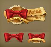Bow tie, retro vector icon