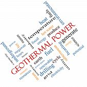 Geothermal Power Word Cloud Concept Angled