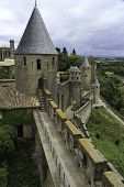 Castle tower, Carcassonne, France