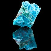 picture of calcite  - Chrysocolla mineral stone - JPG