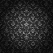picture of brocade  - Damask seamless floral pattern - JPG
