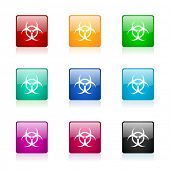 biohazard web icons set