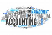 pic of financial audit  - Word Cloud Illustration with  - JPG