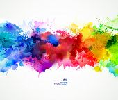 stock photo of drawing  - Bright watercolor stains - JPG