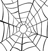 stock photo of cobweb  - Vector illustration of cobweb on white backgroud - JPG