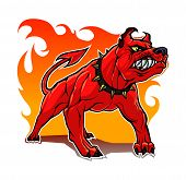 stock photo of satan  - This is a stylized hell dog - JPG