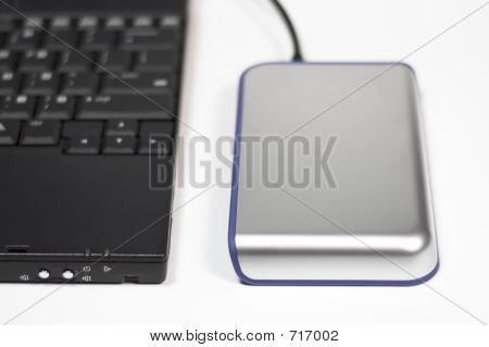 Computadoras y disco duro externo