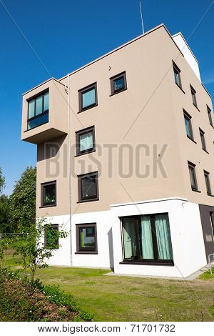 Modern apartment house in Hamburg