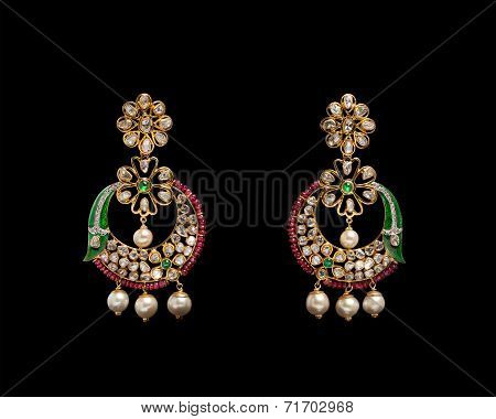 Close up of pair of earrings