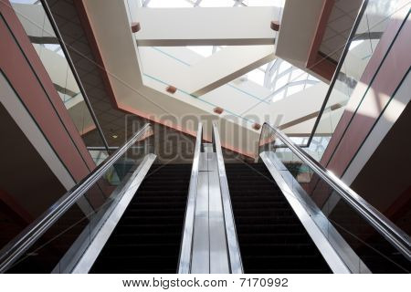 Escalator At A Shopping Mall