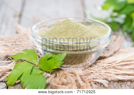Lovage Powder In A Bowl