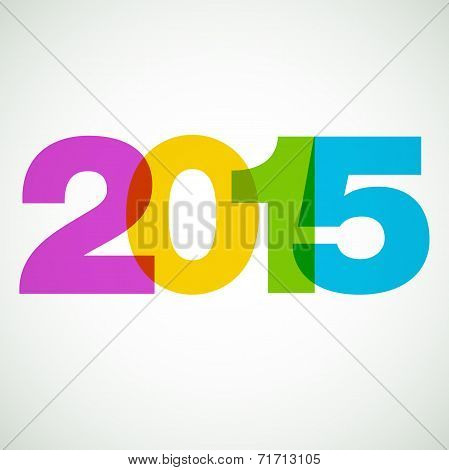 Happy new year 2015. Vector design element.