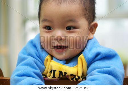 slobber child