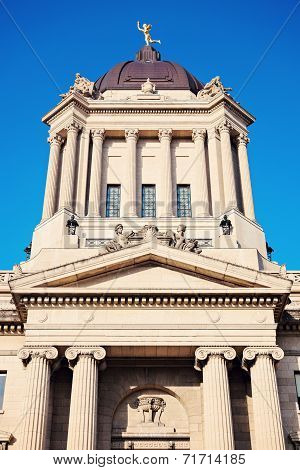 Manitoba Legislative Building In Winnipeg