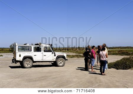 Tourists Visiting The Camargue 4X4