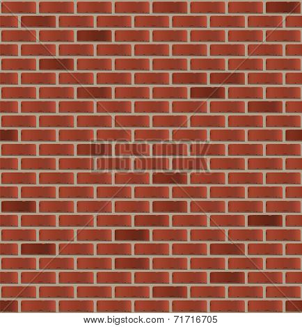 Simple seamless brick wall