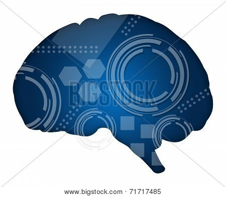 Brain Filled with Technical Elements