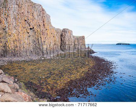 The cliff of Sagandisey. Stykkisholmur, Iceland.