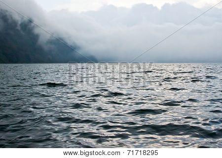 Bratan Lake In Clouds (bali, Indonesia)