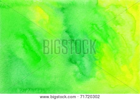 Green watercolor painted vector background