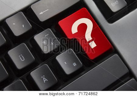 Keyboard Red Button Question Mark