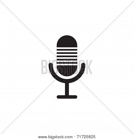Microphone Vector Icon Design