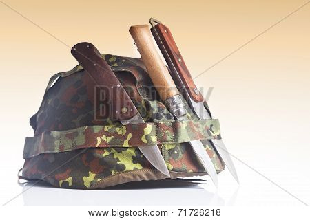 Knife and military equipment