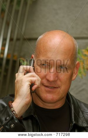 Man Talking On A Cell Phone