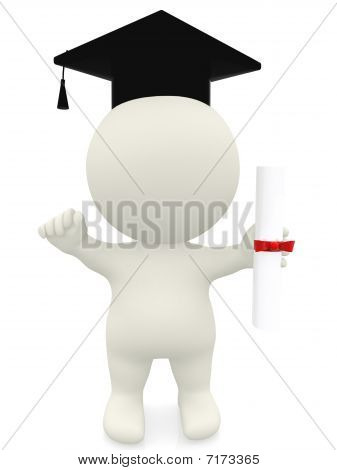 3D Man - Graduation Portrait