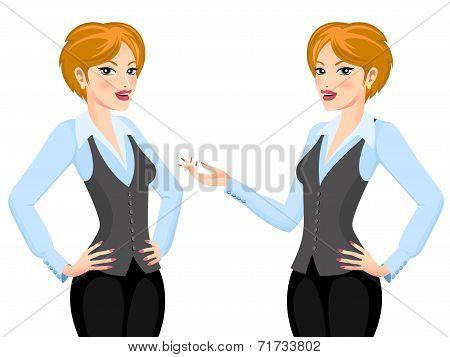 Business Woman making Proposal