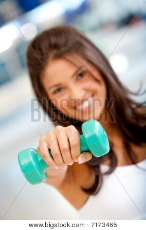Woman With Freeweights