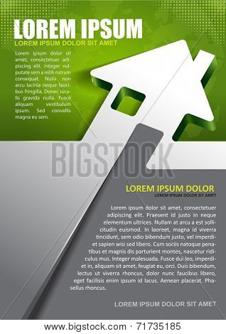 Vector background for real estate agency with abstract house and continents. Can be used for a poster, brochure or flyer