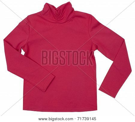 Child turtleneck. Isolated on white background.