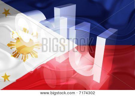 Bandeira das Filipinas ondulado educação